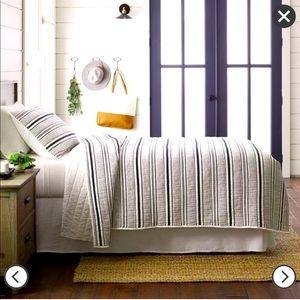 Textured Stripe Quilt Railroad Gray- Hearth & Hand